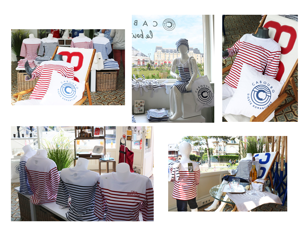 Collection Mousqueton au Pavillon de Cabourg, la boutique